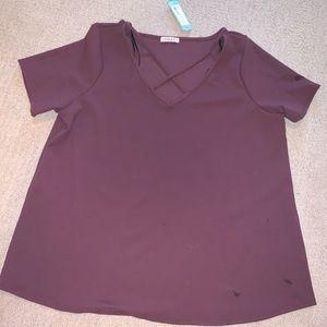 Women's Clarabelle Criss Cross Strap Knit Top